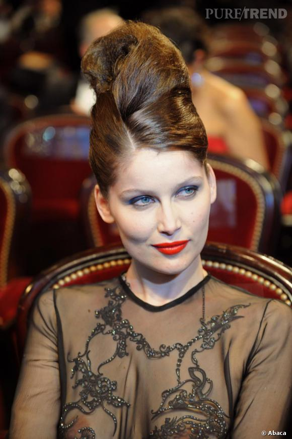 2010   Laetitia Casta et sa fameuse robe Yves Saint Laurent.