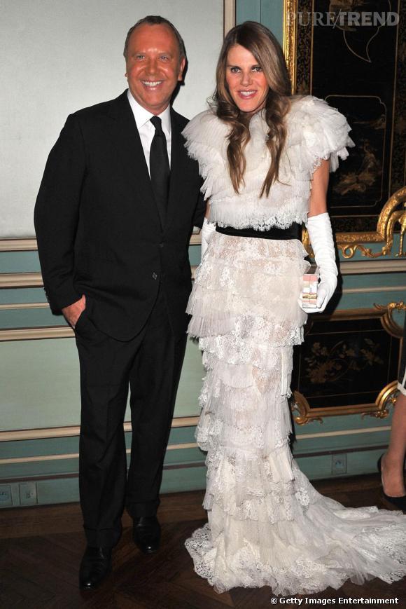 Michael Kors et Anna Dello Russo, version princesse, en Nina Ricci printemps-été 2011.