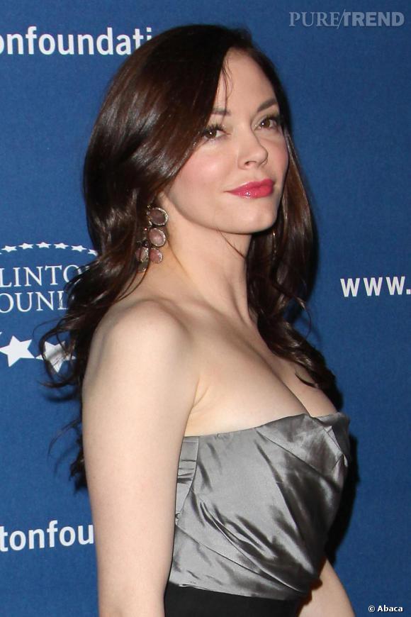 Rose McGowan lors d'une soirée de la fondation Clinton, à Los Angeles.