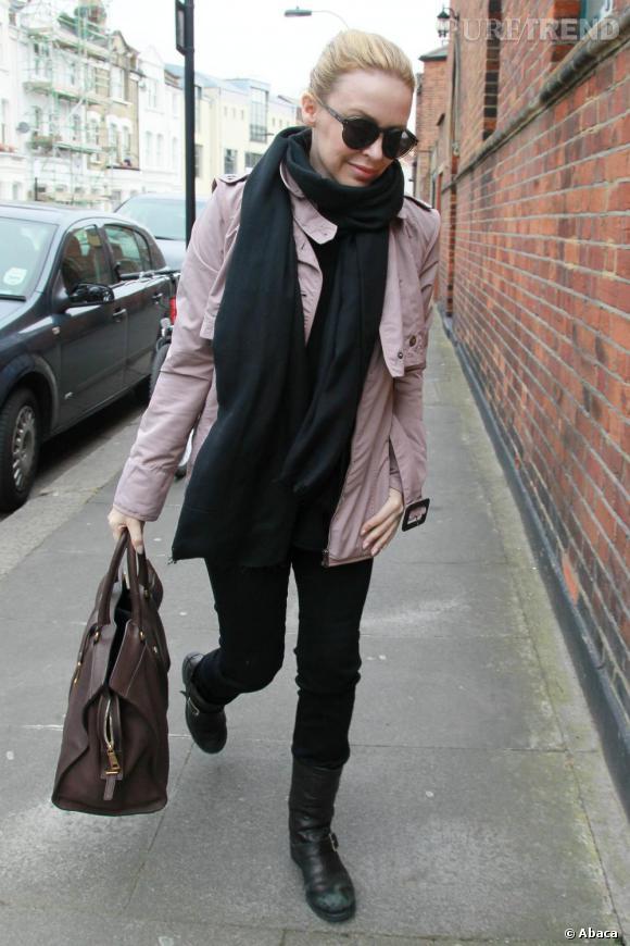 Kylie Minogue dans les rues de Londres.