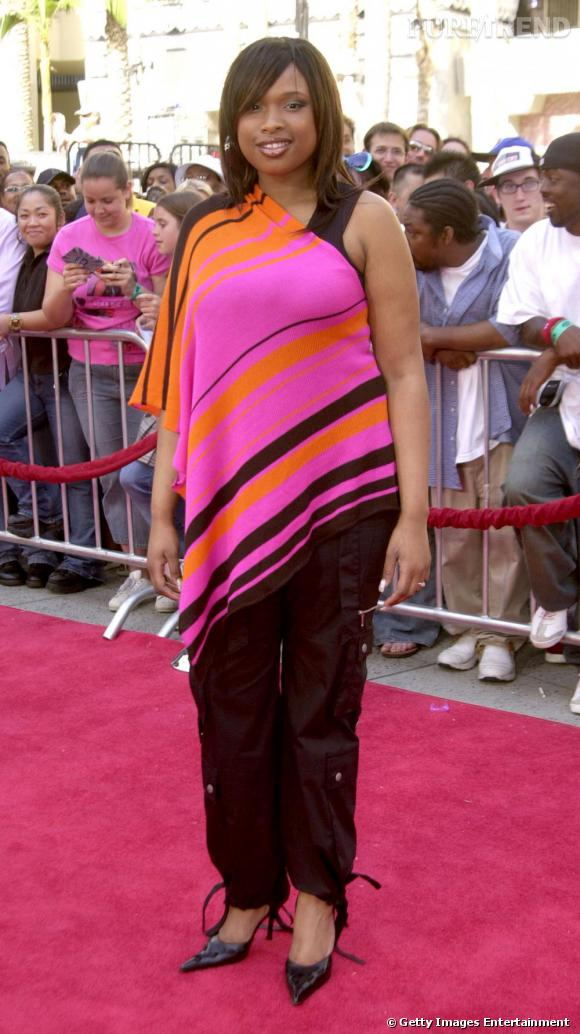 A l'époque d'American Idol, Jennifer Hudson était une chanteuse à coffre, un bon coffre, mais pas vraiment bien attifée.