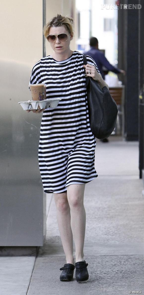 Ellen Pompeo dans les rues de Los Angeles.