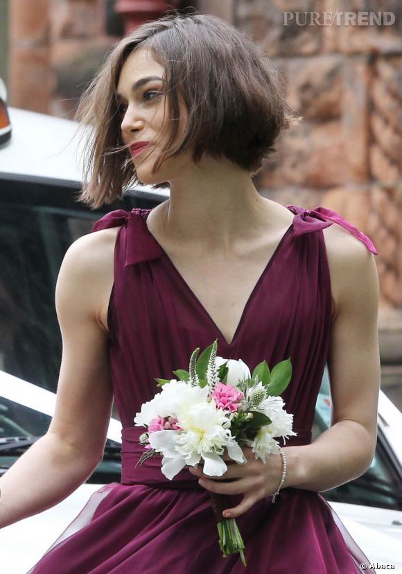 Keira Knightley, demoiselle d'honneur au mariage de son frère Caleb.