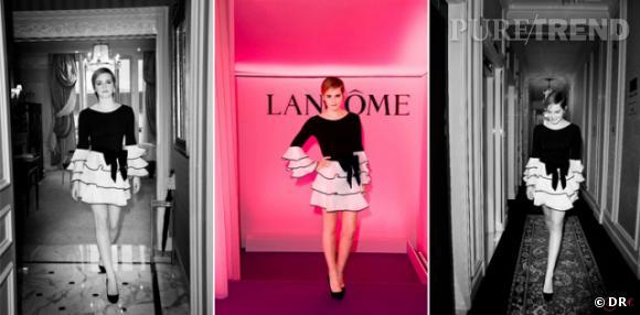 """Emma Watson, pour le parfum """"Tresor Midnight Rose"""" de Lancôme."""