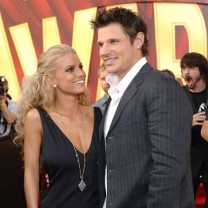 Jessica Simpson, son mari de l'époque et... le mec à droite.