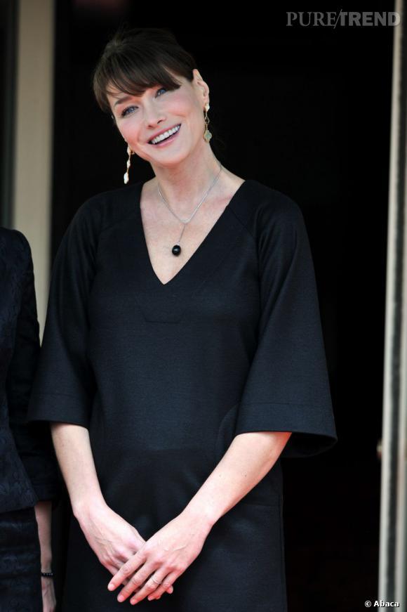 Carla Bruni à Deauville pour le sommet du G8.