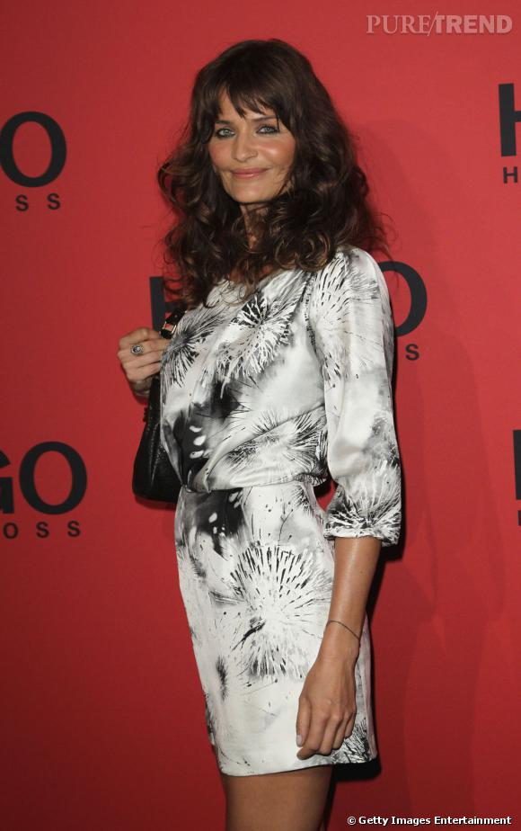 Helena Christensen au défilé Hugo Boss pendant la Fashion Week de Berlin.
