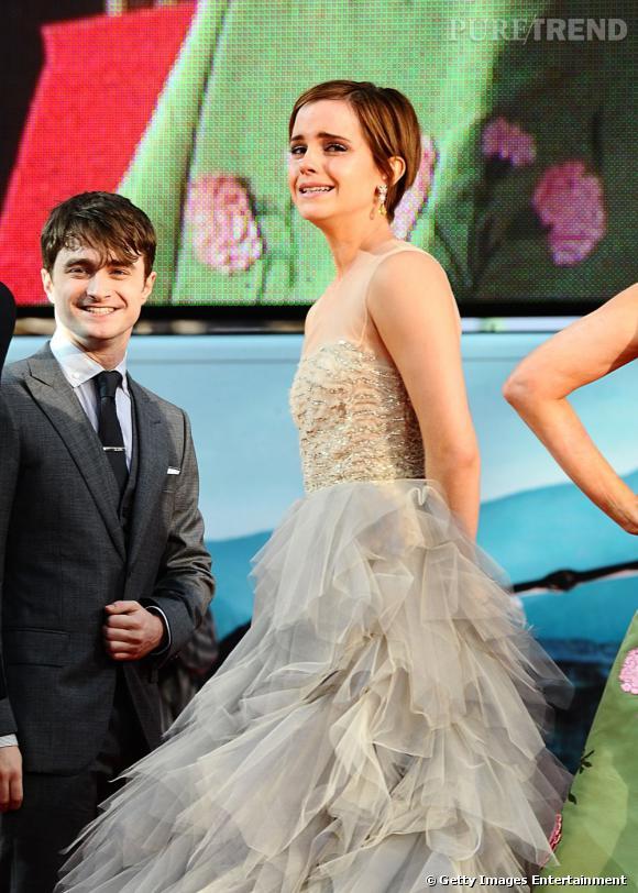 Les larmes d'Emma Watson lors de la dernière.