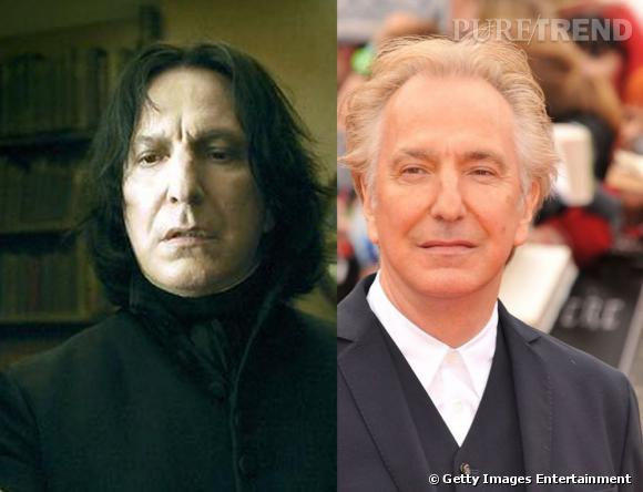 Professeur Rogue, incarné par Alan Rickman dans toute la saga d'Harry Potter.