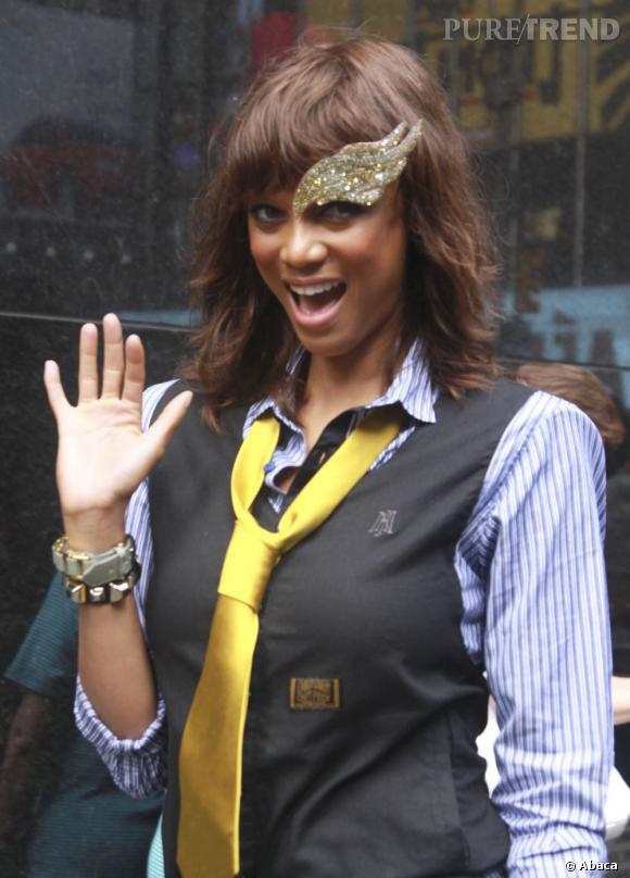 "Tyra Banks, ridicule, pour l'émission ""Good Morning America"" à New York."