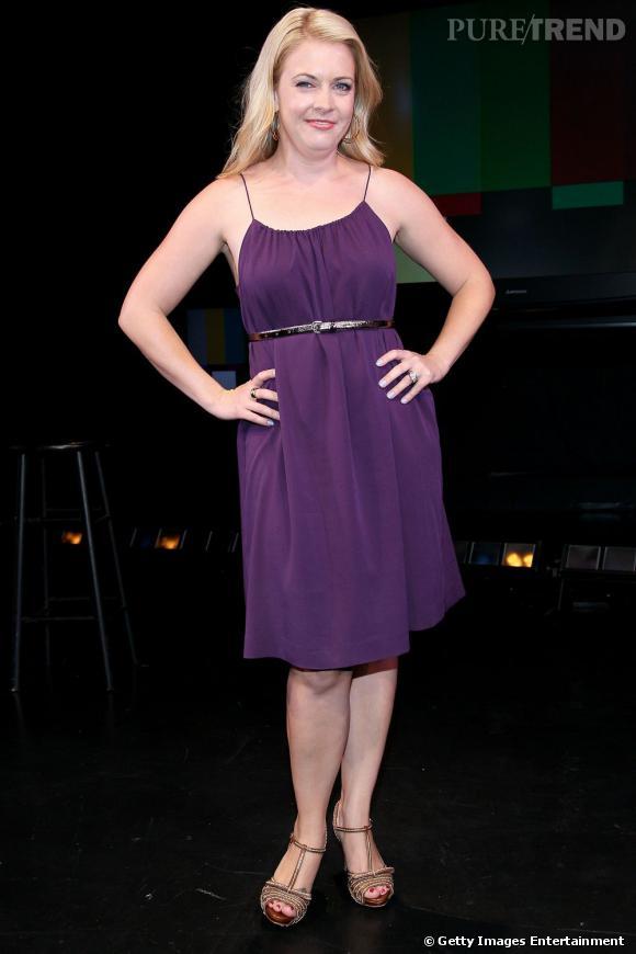 """Melissa Joan Hart, désespérante sur la scène du """"Judy Show : My Life as a sitcom"""", à New York."""