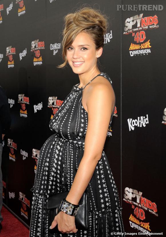 """Jessica Alba à l'avant première de """"Spy Kids 4"""" à Los Angeles."""