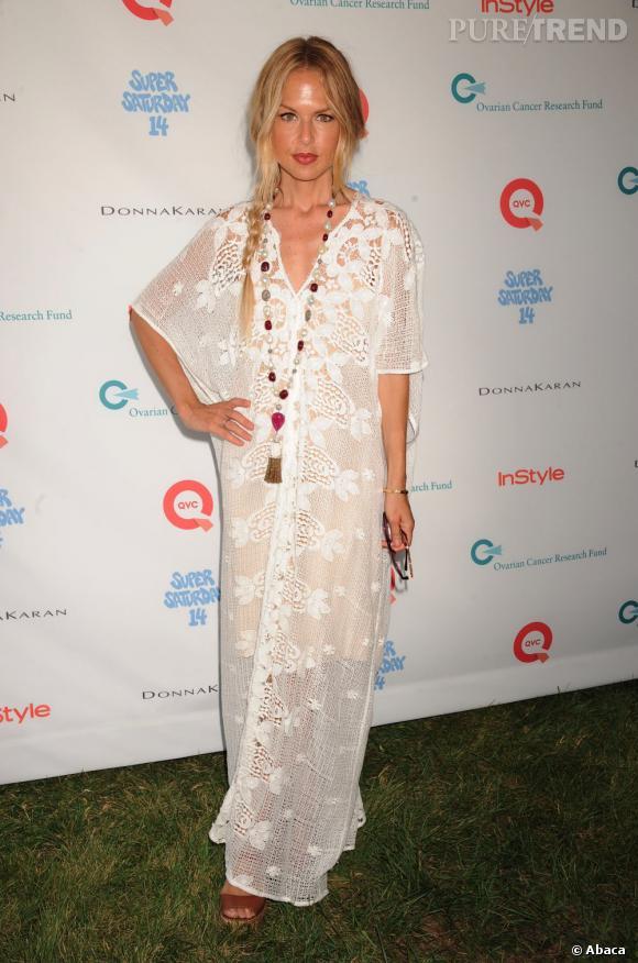 Rachel Zoe, toujours aussi bohème pour un gala de charité à New-York.