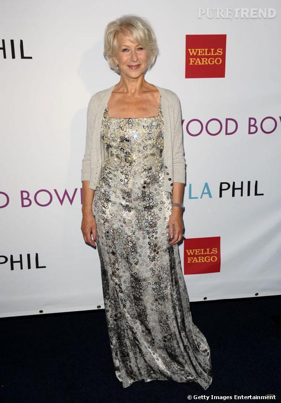 """Helen Mirren, élue """"plus beau corps de l'année"""" devant Jennifer Lopez et Elle MacPherson."""