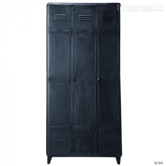armoire dressing edison maisons du monde on embarque le casier du lyc e la maison prix 599. Black Bedroom Furniture Sets. Home Design Ideas
