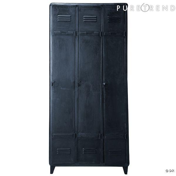 armoire dressing edison maisons du monde on embarque le casier du lyc e la maison. Black Bedroom Furniture Sets. Home Design Ideas