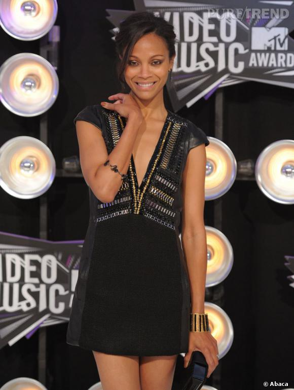 Zoe Saldana lors des MTV Video Music Awards organisés à Los Angeles.
