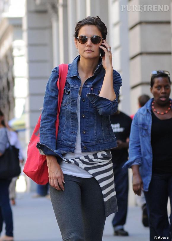 Katie Holmes dans les rues du quartier new-yorkais de Chelsea.