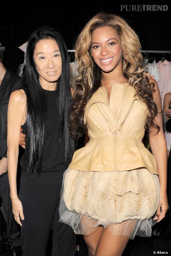 Beyoncé et la créatrice Vera Wang.