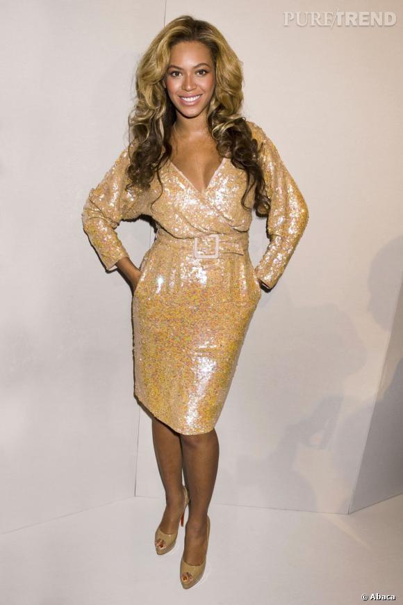Beyoncé particulièrement glitter chez J. Crew.
