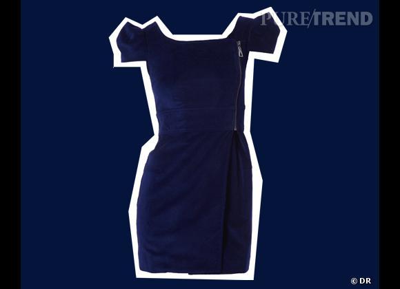 Colorama des couleurs de la saison Automne-Hiver 2011/2012 : le marine ! Robe Eleven Paris, 175 €.