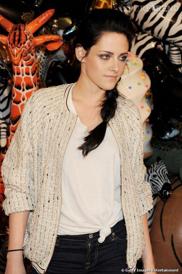 Kristen Stewart à l'after-party Mulberry à Londres.
