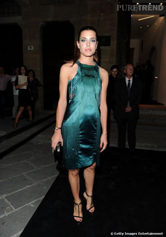 Charlotte Casiraghi à l'inauguration du Musée Gucci à Florence.