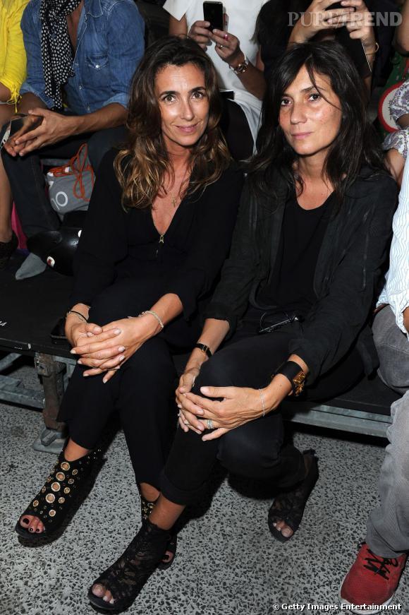 Mademoiselle Agnès et Emmanuelle Alt au défilé Sonia Rykiel.