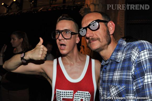 Jeremy Scott et Terry Richardson au défilé Dw by Kanye West.