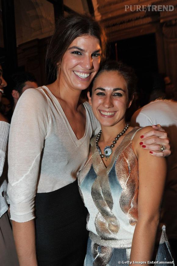 Bianca Brandolini d'Adda et sa bonne copine de défilé Delfina Delettrez.