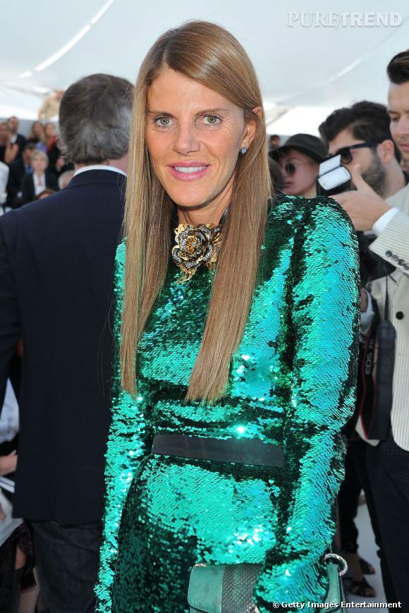 Un look de sirène pour la fashionista qui brille en Dolce & Gabbana Automne-Hiver 2011-2012.