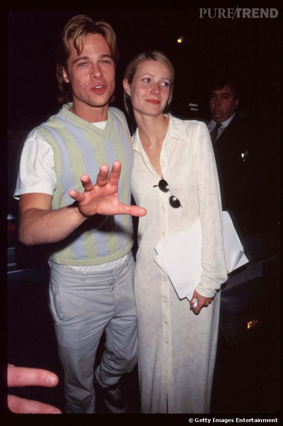 Gwyneth avec Brad Pitt en 1996. À cette époque elle n'avait pas encore trouvé sont syle vestimentaire,  mais en ce qui concerne les hommes, elle avait déjà des goûts très sûrs.