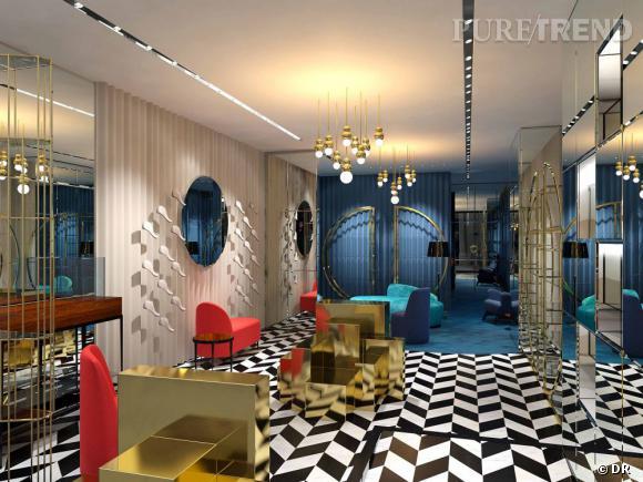 Le nouveau concept store Sergio Rossi à Londres.