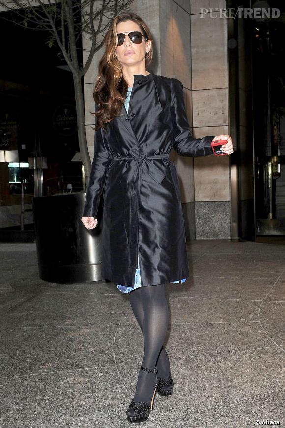Le top street-style : L'allure racée, féminine, Sandra Bullock en impose. On dit oui !