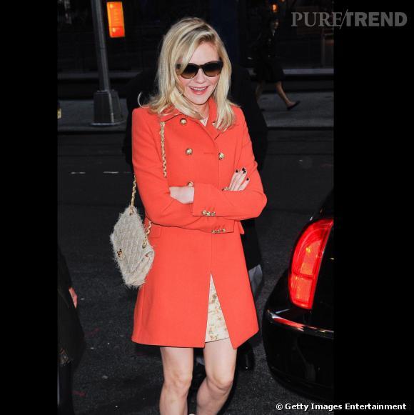 Kirsten Dunst en balade dans les rues de New York.
