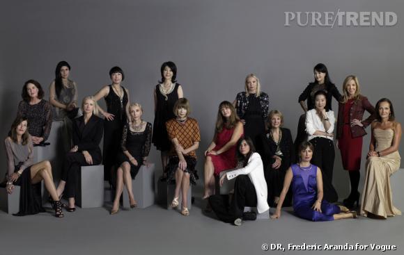 Les rédactrices en chef de Vogue au complet.