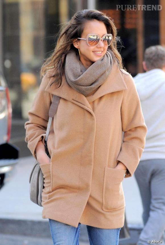 Jessica Alba en balade dans les rues de New York.