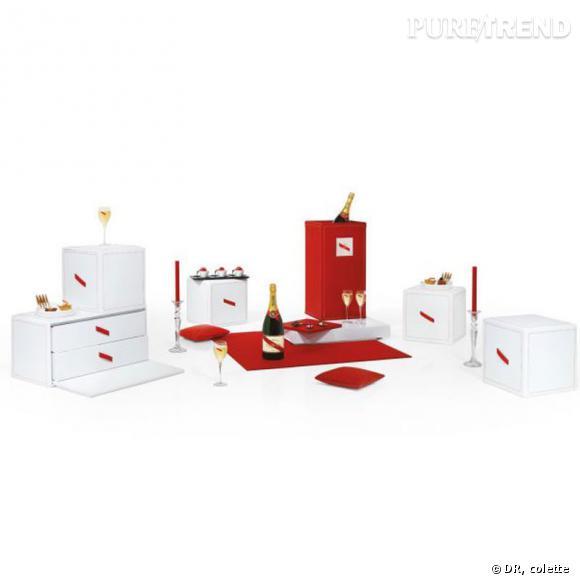 cadeau exceptionnel en vue g h mumm et domeau p r s ont travaill autour d 39 un coffret plus qu. Black Bedroom Furniture Sets. Home Design Ideas