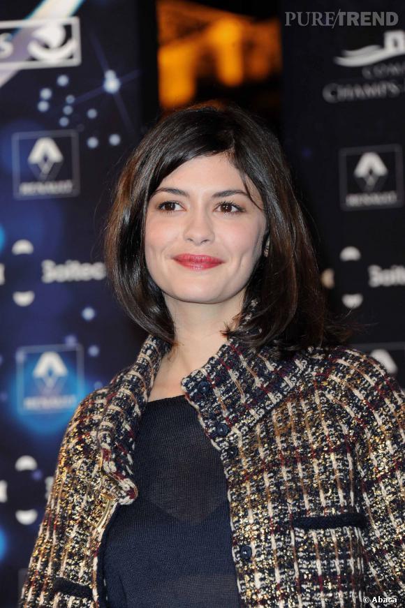 Audrey Tautou a allumé les Champs-Elysées, mercredi 23 octobre 2011.