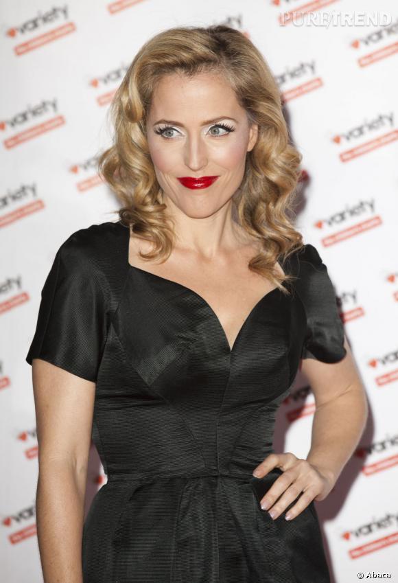 Gillian Anderson à un gala de Charité organisé à Londres.