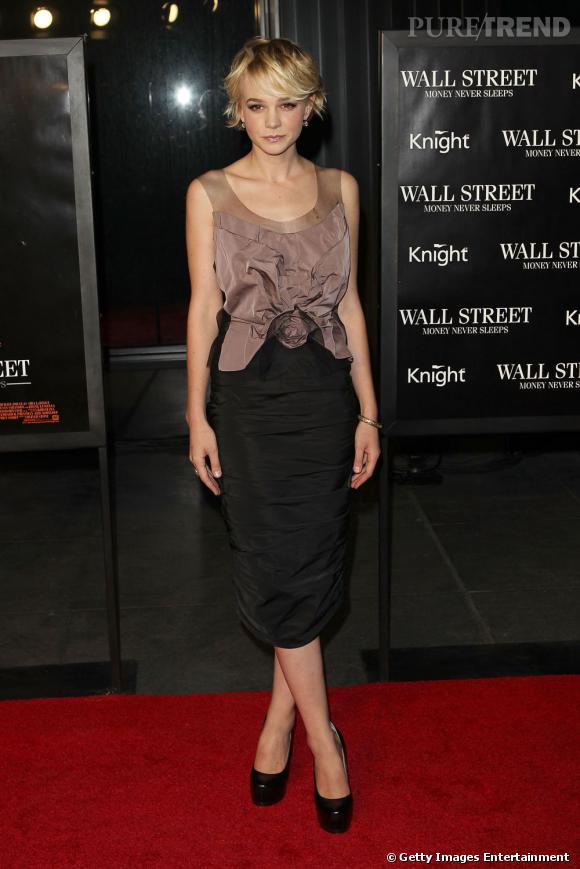 Le top look de soirée :   Dans un ensemble Nina Ricci, l'actrice est superbe. Ses chaussures Yves Saint Laurent allongent parfaitement sa silhouette. Un sans faute.
