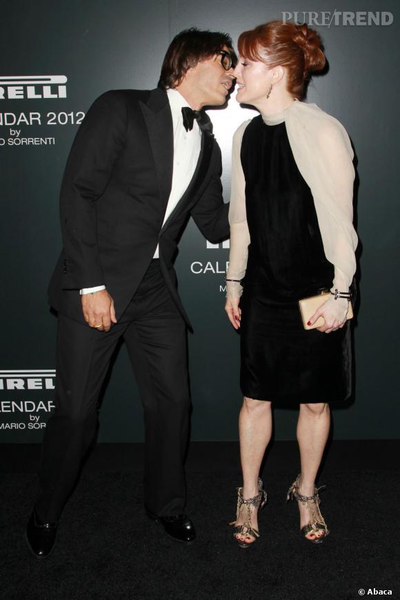 Julianne Moore et Mario Sorrenti au gala du calendrier Pirelli 2012 à New York.