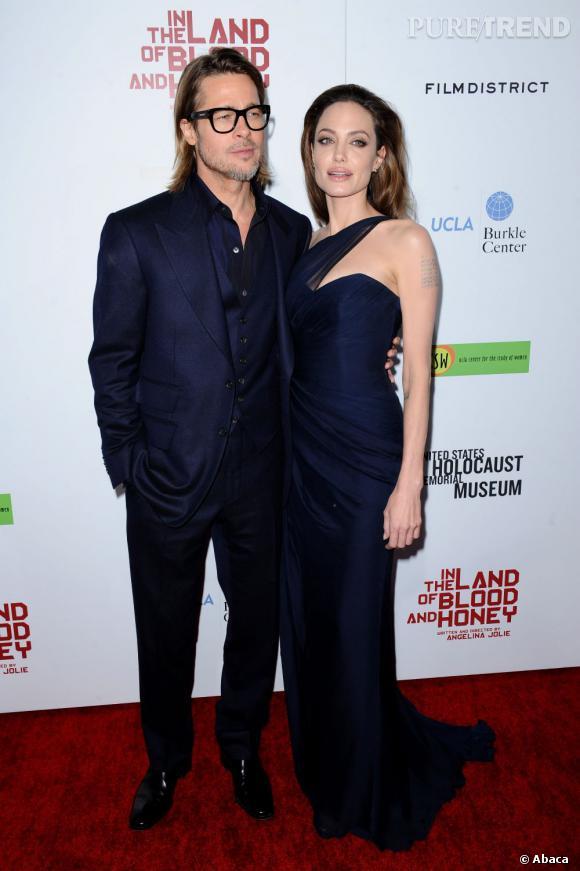 Angelina Jolie et Brad Pitt, un couple glamour.