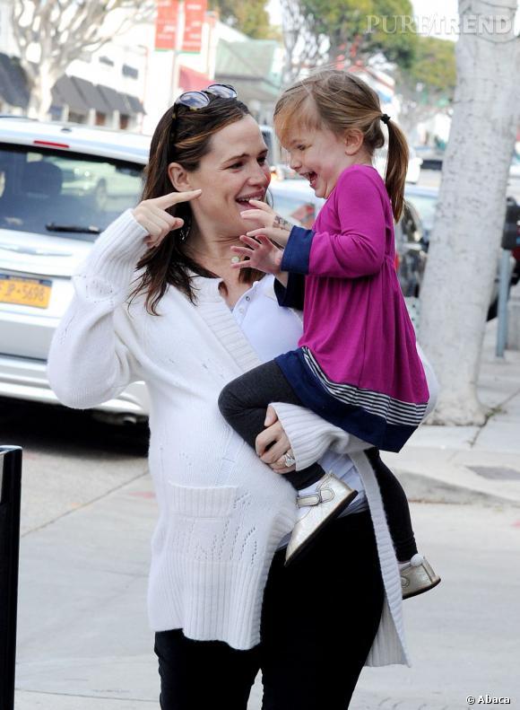Un joli moment de complicité entre Jennifer Garner et sa fille Seraphina.
