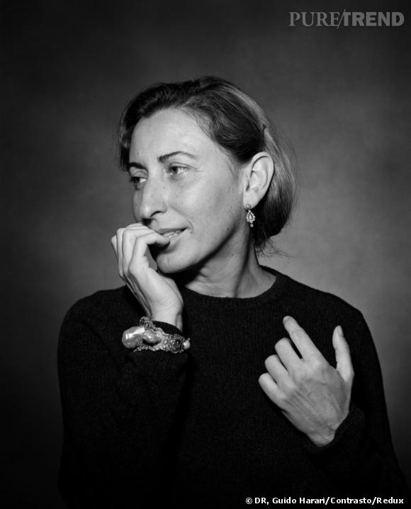 """Schiaparelli and Prada: Impossible Conversations"" au Metropolitan Museum of Art de New York Du 10 mai au 19 août 2012. Guido Harari (Italian, born Cairo, 1952) Portrait of Miuccia Prada, 1999"