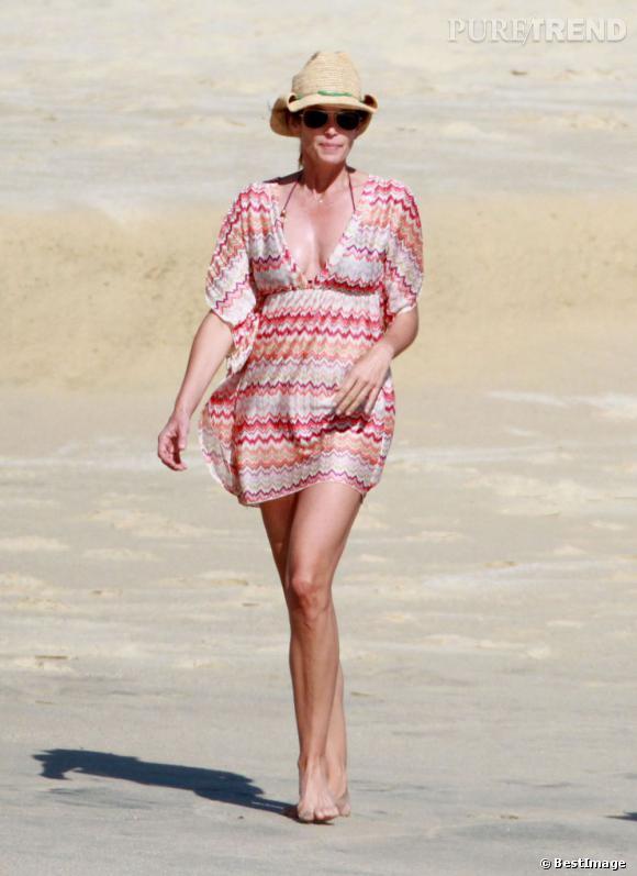 Cindy Crawford en vacances à Cabo San Lucas au Mexique.