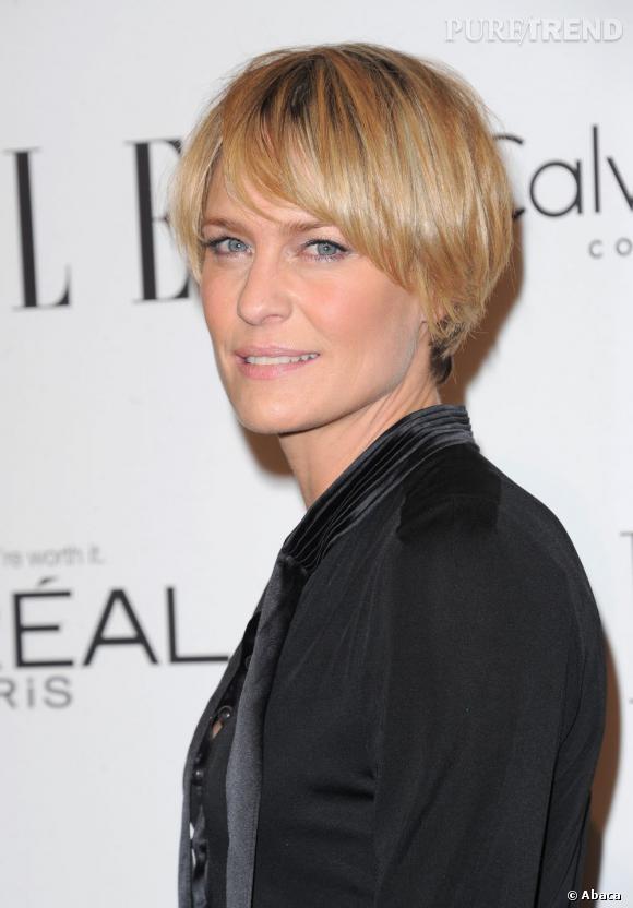Les plus belles coupes courtes des stars Robin Wright a choisi une coupe  courte légèrement boule