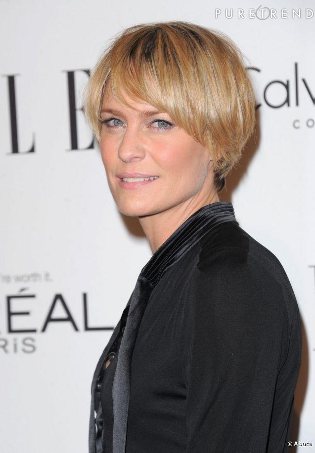 belles coupes courtes des stars Robin Wright a choisi une coupe courte