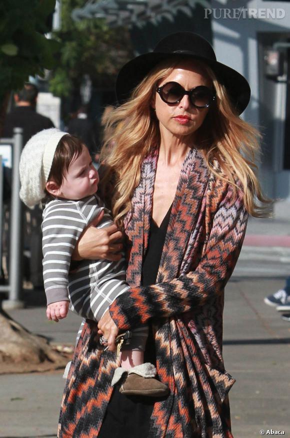 Rachel Zoe et son fils à Los Angeles.