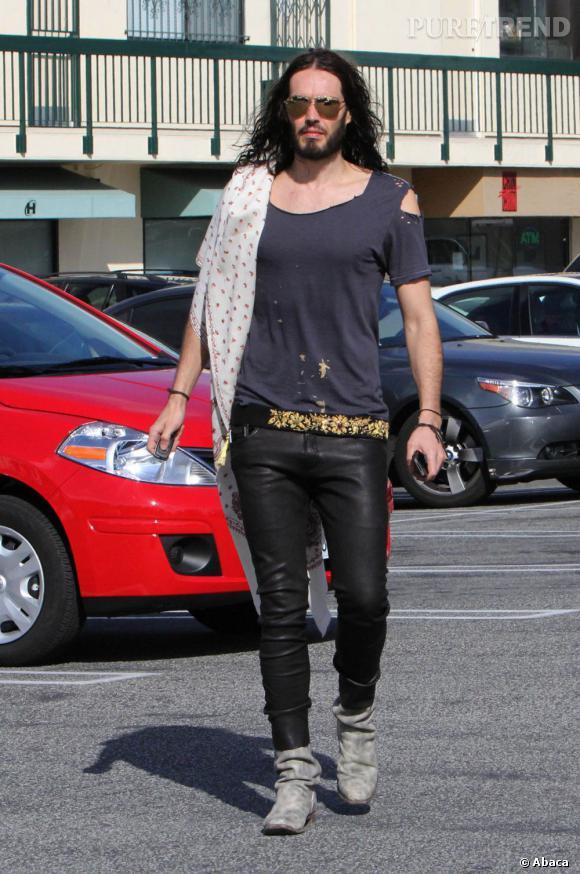 Russell Brand dans les rues de Los Angeles.